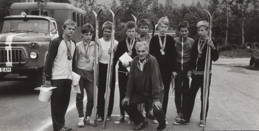 Noored ENSV meistrivõistlustel Kohtla-Järvel. Foto: Erakogu